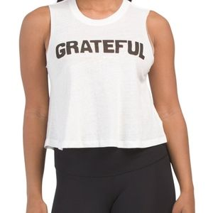 Spiritual Gangster Grateful White Muscle Tee